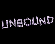 The logo features 'Unbound' in graffiti file font, mixed white and purple, on a plain black background.