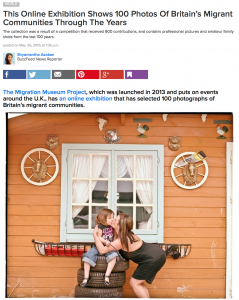 Screenshot of BuzzFeed article with introduction and photograph by Lisa Ebert.