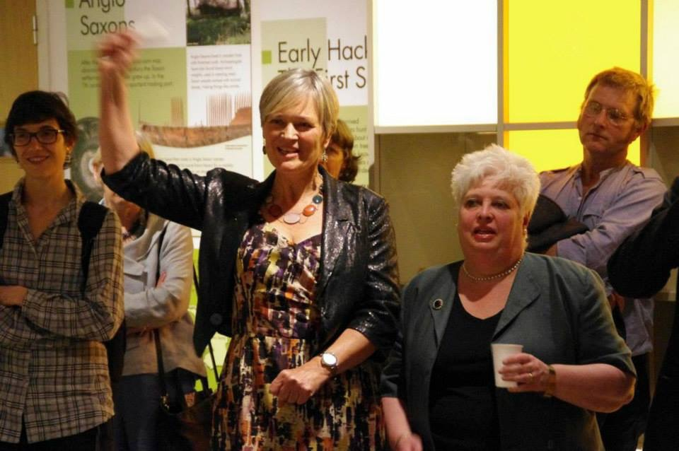 1 Sue celebrating 100 Images launch at Hackney Museum