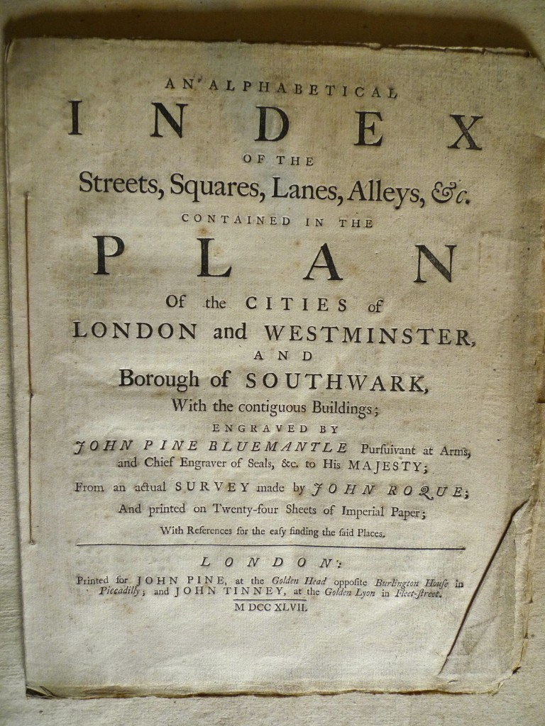 The first A-Z of London - made in 1747 by a French Huguenot immigrant - preserved with its state-of-the-art street plans at Boughton.