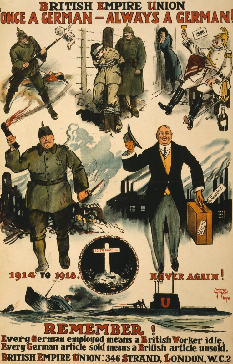 British Empire Union WWI poster