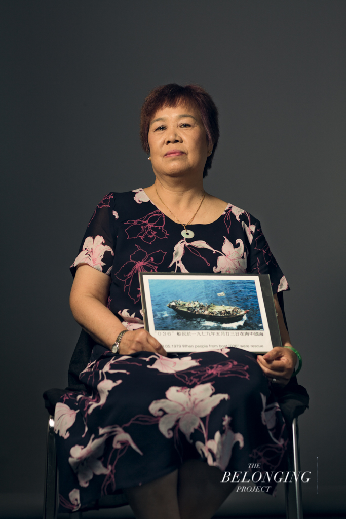 """I am a Vietnamese refugee. I was in this ship (referring to the photo), which carried 295 passengers. The vessel maximum capacity was supposed to accommodate a hundred passengers only… the condition on the ship was horrific. There was no fresh water and a suffocating odour filled out the whole ship. Sometimes, when sea waves hit the ship, there was no shelter and we all got soaked."" –San Dinh, Vietnam/Northern Ireland"