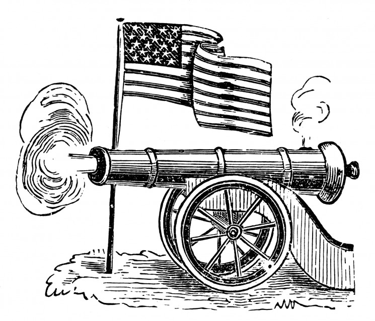 Union flag and cannon treated low res