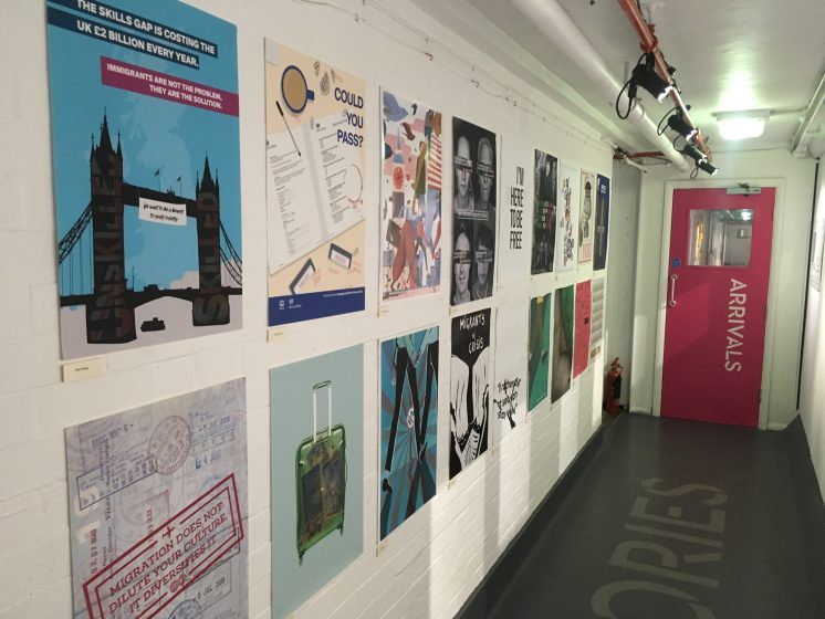Exhibition Stand Meaning : What does migration mean in the uk today poster project